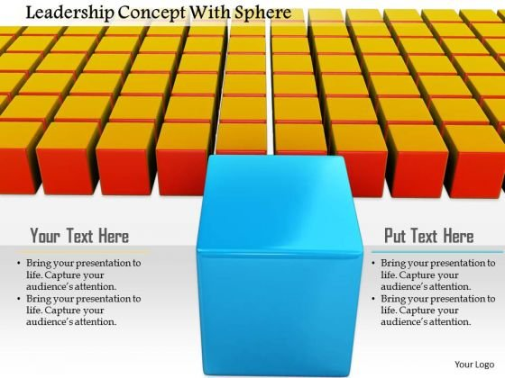 Stock Photo Leadership Concept With Cubes PowerPoint Slide