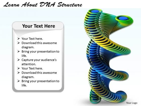 Stock Photo Learn About Dna Structure Ppt Template