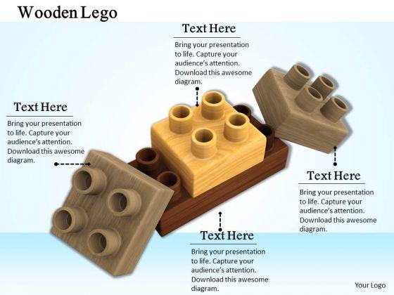 Stock Photo Lego Blocks For Teamwork Concept PowerPoint Slide