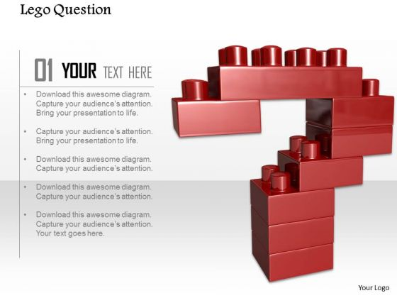 Stock Photo Lego Design Of Question Mark PowerPoint Slide