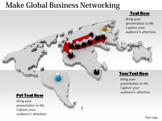 Stock Photo Make Global Business Networking PowerPoint Template