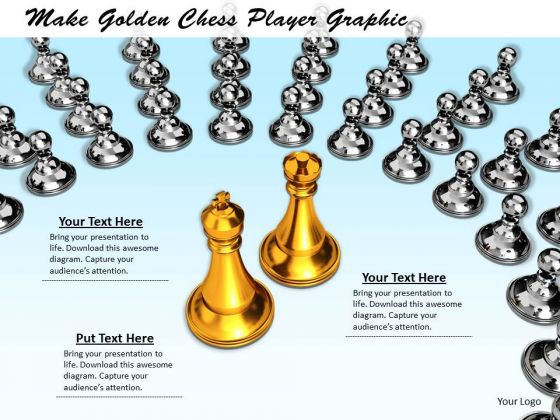 Stock Photo Make Golden Chess Player Graphic PowerPoint Template