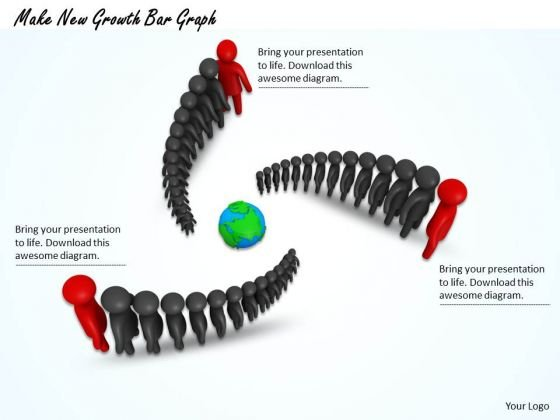 Stock Photo Make New Growth Bar Graph PowerPoint Template