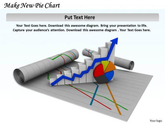 Stock Photo Make New Pie Chart PowerPoint Template