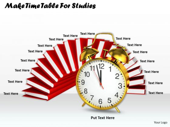 Stock Photo Make Time Table For Studies Ppt Template