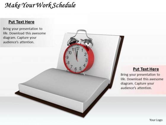 Stock Photo Make Your Work Schedule Ppt Template