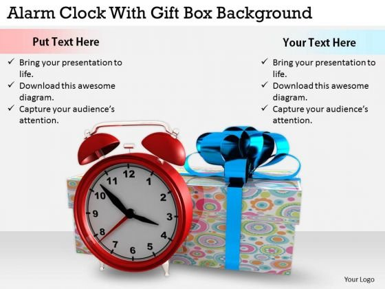 Stock Photo Marketing Concepts Alarm Clock With Gift Box Background Business Pictures Images