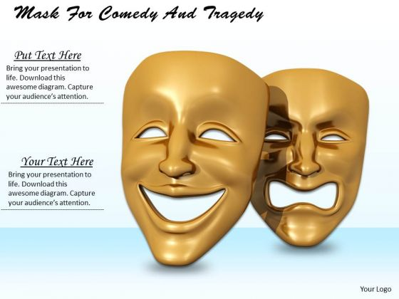 Stock Photo Mask For Comedy And Tragedy PowerPoint Template