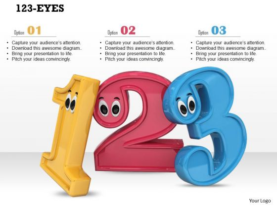 Stock Photo Math Numbers With Googly Eyes Preschool PowerPoint Slide
