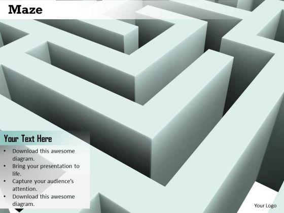 Stock Photo Maze Challenges Concept PowerPoint Slide