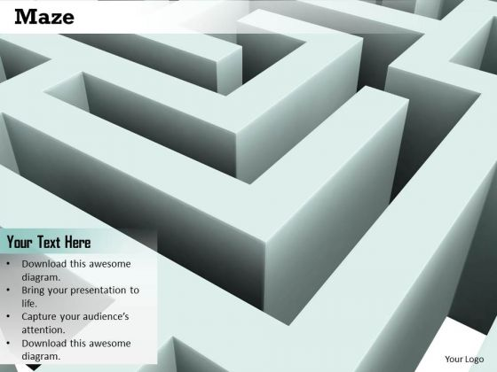 Stock Photo Maze Graphic To Show Problem Solving Concept PowerPoint