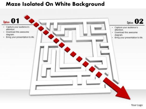 Stock Photo Maze Isolated On White Background PowerPoint Slide
