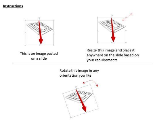 stock_photo_maze_with_diagonal_arrow_powerpoint_slide_2