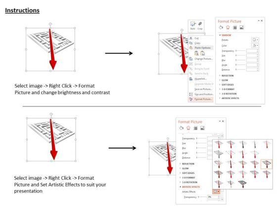 stock_photo_maze_with_diagonal_arrow_powerpoint_slide_3