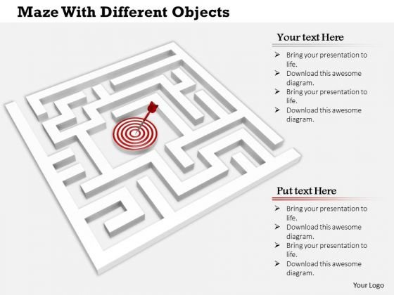 stock_photo_maze_with_target_hit_arrow_powerpoint_slide_1