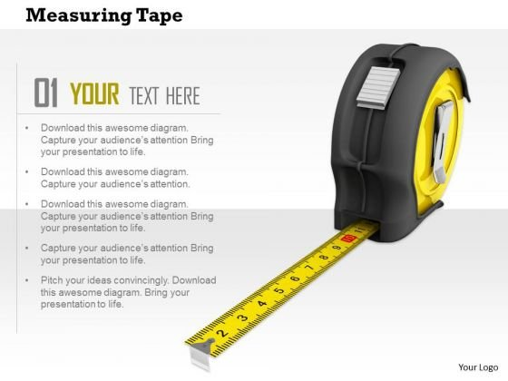 Stock Photo Measuring Tape Construction PowerPoint Slide