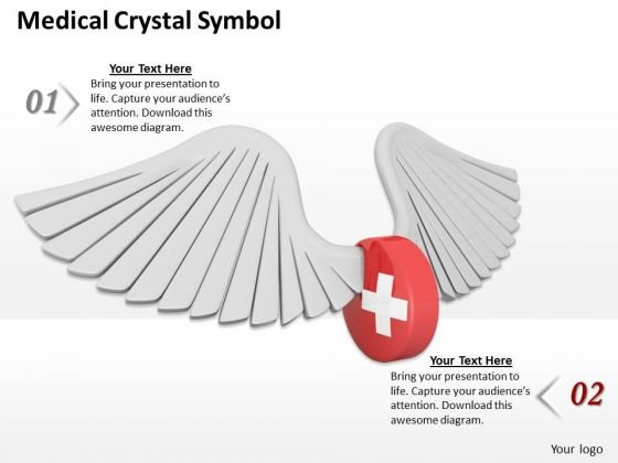 Stock Photo Medical Crystal Symbol PowerPoint Slide
