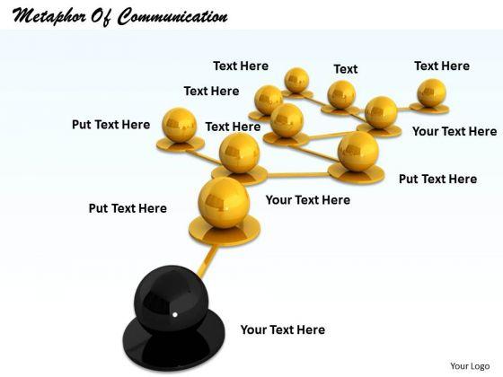 Stock Photo Metaphor Of Communication PowerPoint Slide