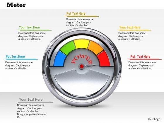 Stock Photo Meter Power PowerPoint Slide