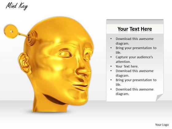 Stock Photo Mind Key PowerPoint Slide