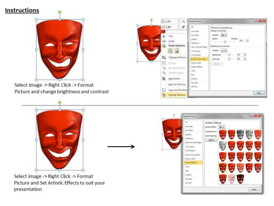 stock_photo_mixed_emotions_red_color_mask_powerpoint_slide_3
