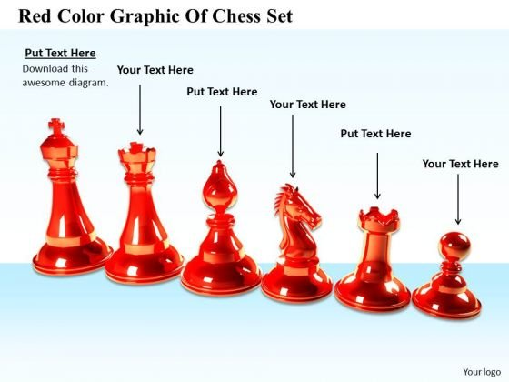 Stock Photo Modern Marketing Concepts Red Color Graphic Of Chess Set Business Images