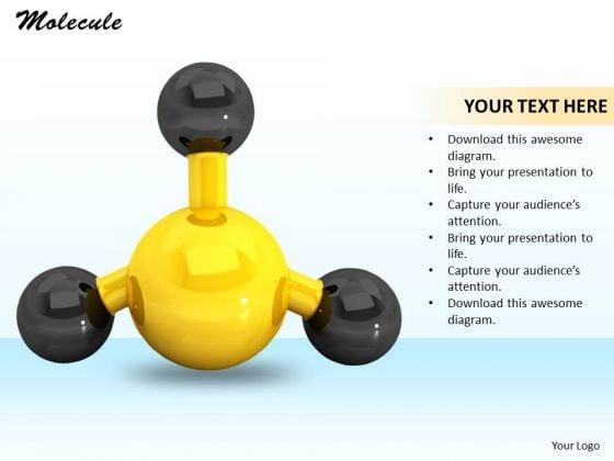 Stock Photo Molecule Structure PowerPoint Slide