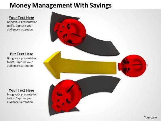 Stock Photo Money Management With Savings PowerPoint Template