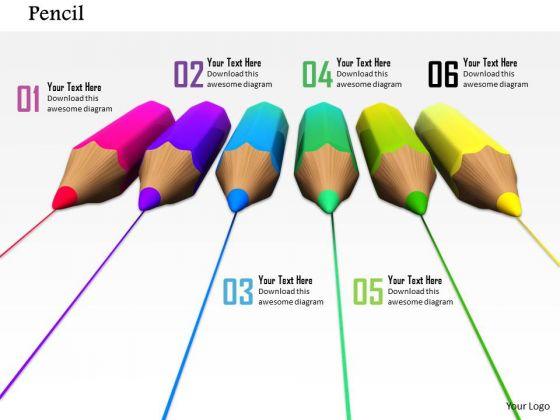 Stock Photo Multicolor Pencil Lines PowerPoint Slide