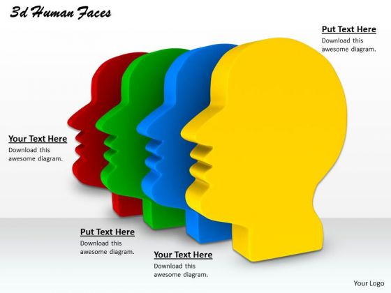 Stock Photo Multicolored Human Faces For Conceptual Use PowerPoint Slide