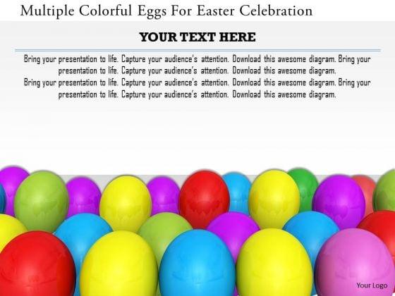 Stock Photo Multiple Colorful Eggs For Easter Celebration PowerPoint Slide