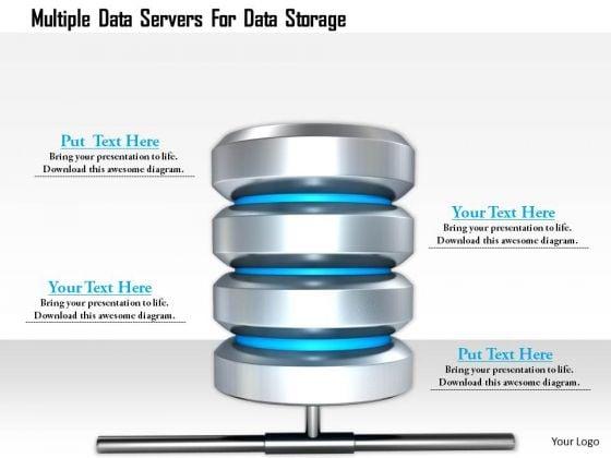 Stock Photo Multiple Data Servers For Data Storage PowerPoint Slide