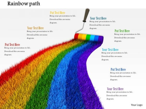 Stock Photo Nature Rainbow Path With Roller PowerPoint Slide