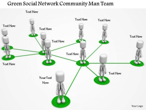Stock Photo Network Of Business People PowerPoint Slide