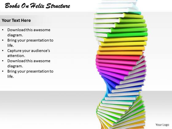 Stock Photo New Business Strategy Books On Helix Structure Best