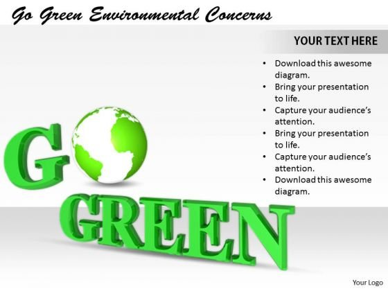 Stock Photo New Business Strategy Go Green Environmental Concerns Stock Images