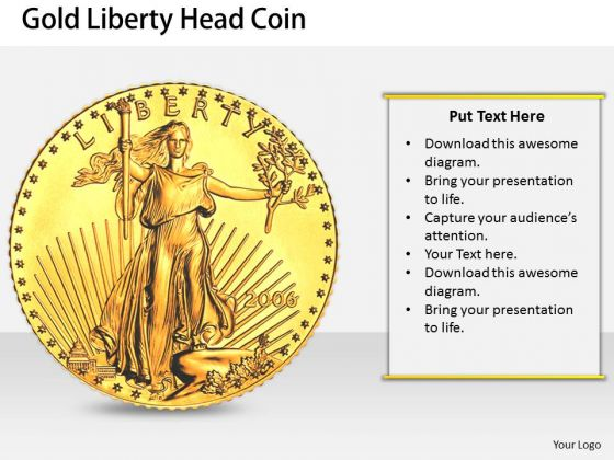 Stock Photo New Business Strategy Gold Liberty Head Coin Stock Images