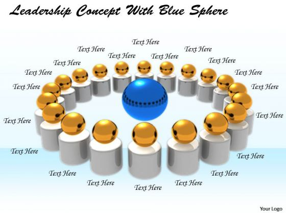 Stock Photo New Business Strategy Leadership Concept With Blue Sphere
