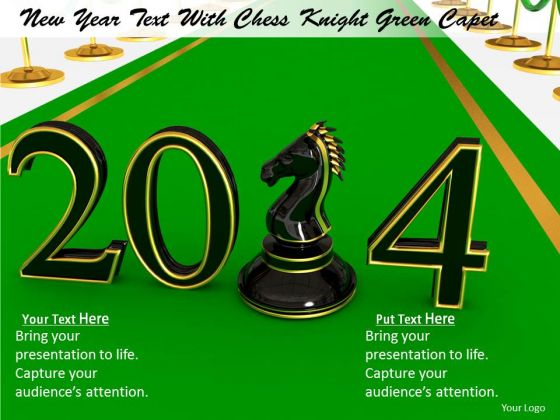 Stock Photo New Year Black Chess Pawn PowerPoint Slide