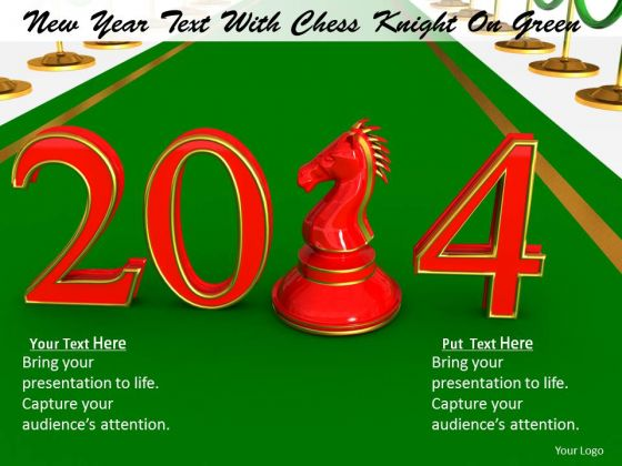 Stock Photo New Year Chess Pawn PowerPoint Slide