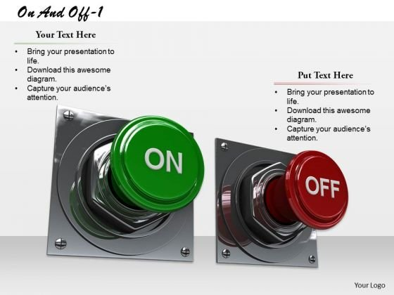 Stock Photo On And Off Button PowerPoint Slide