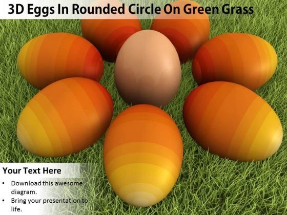 Stock Photo Orange Colored Eggs Shows Team Concept PowerPoint Slide