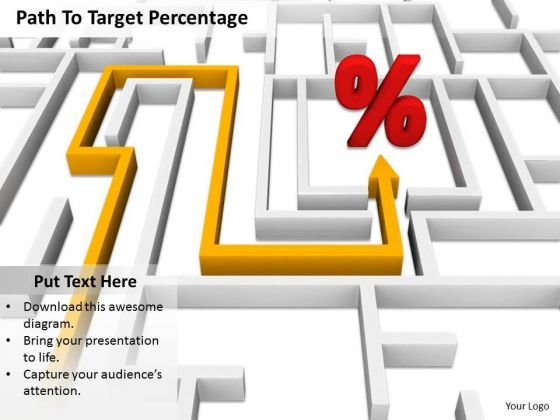 Stock Photo Path To Percentage Symbol PowerPoint Slide