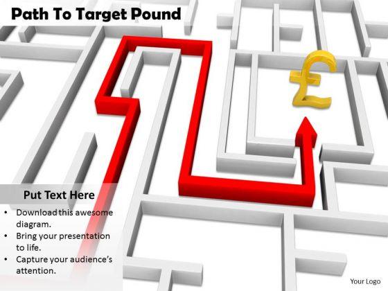 Stock Photo Path To Target Pound Symbol PowerPoint Slide