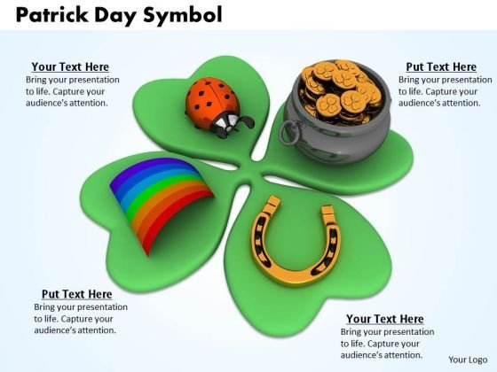 Stock Photo Patrick Day Symbol PowerPoint Slide