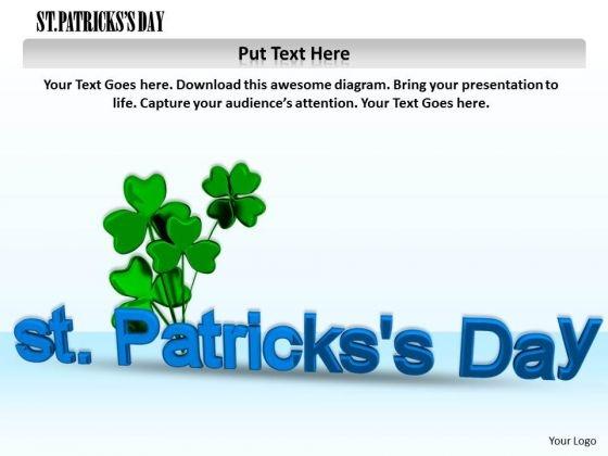 Stock Photo Patricks Day Celebration PowerPoint Slide