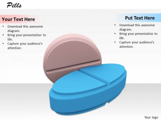 Stock Photo Pink And Blue Medicine Pills PowerPoint Slide