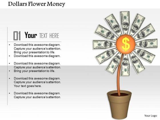 Stock Photo Plant Of Dollars Flower Money PowerPoint Slide