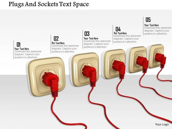 Stock Photo Plugs And Sockets Text Space PowerPoint Slide