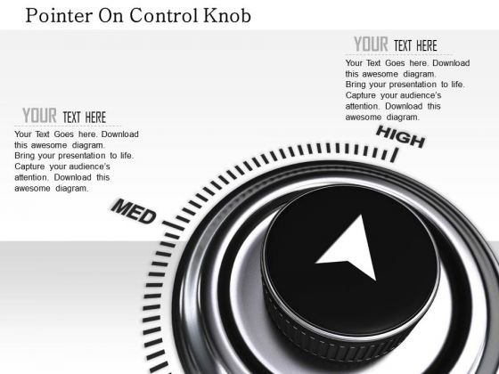 Stock Photo Pointer On Control Knob PowerPoint Slide